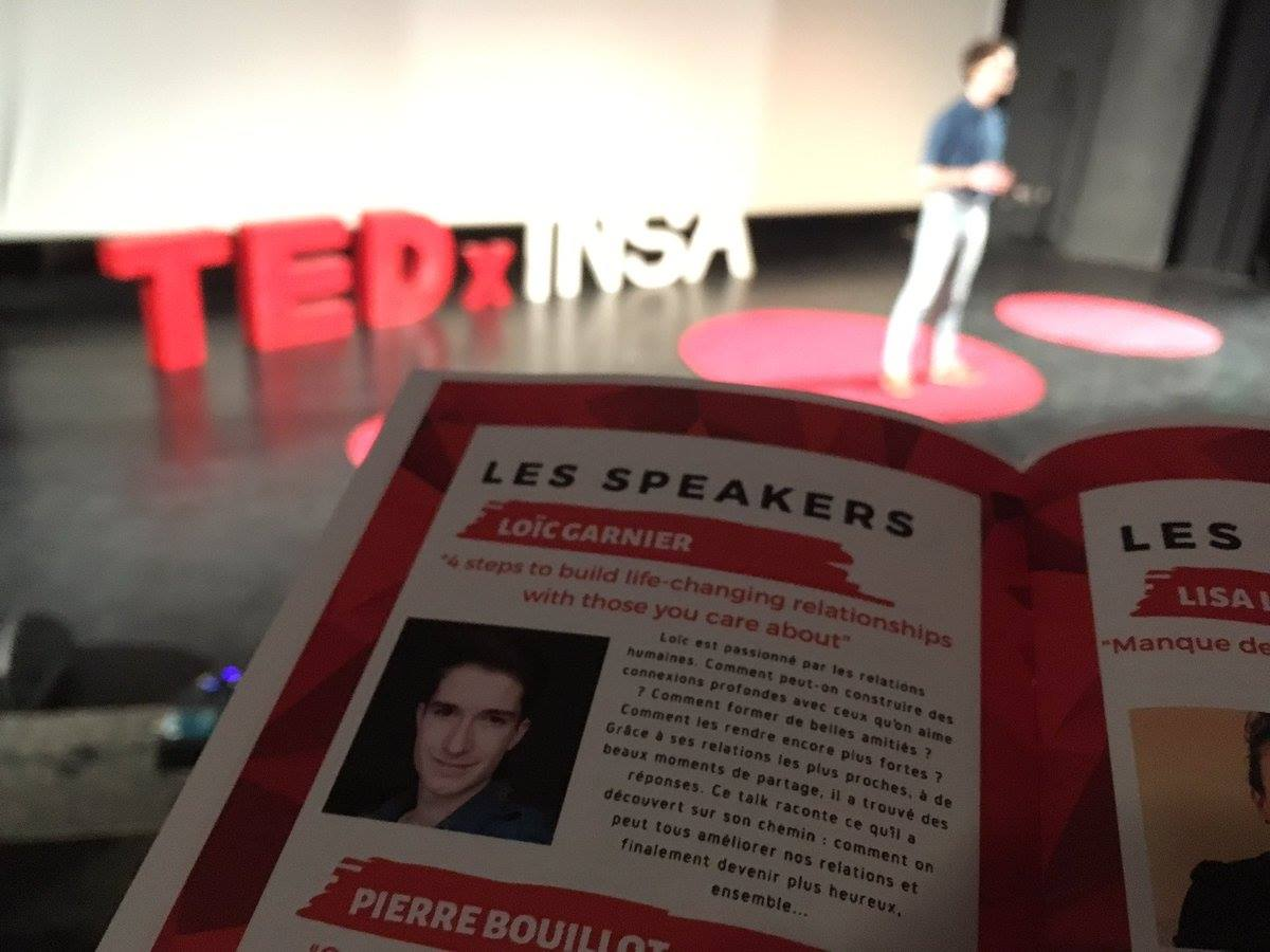 Conférence TEDx Loïc Garnier TEDxINSA 2019
