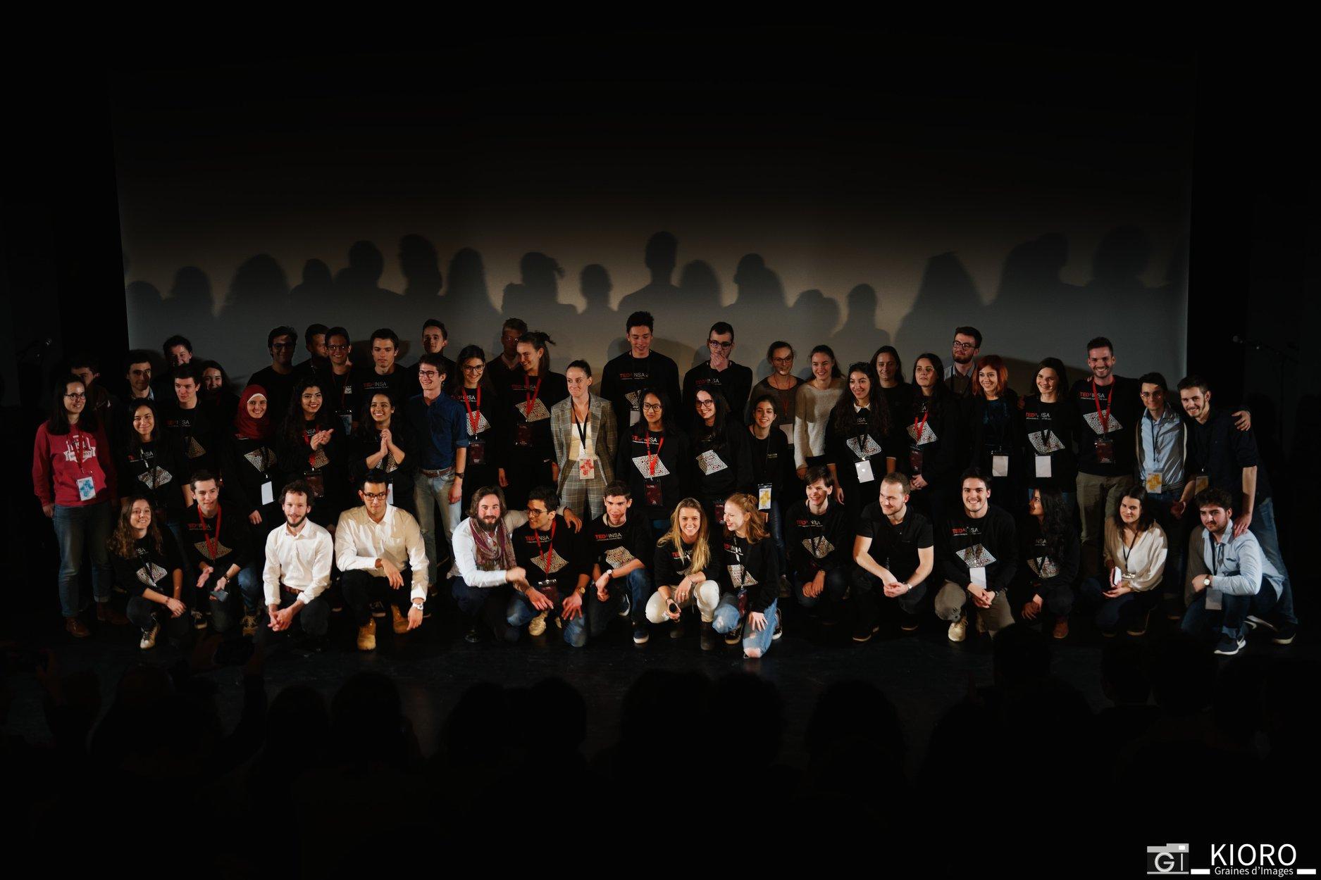 TEDxINSA - L'équipe et les speakers