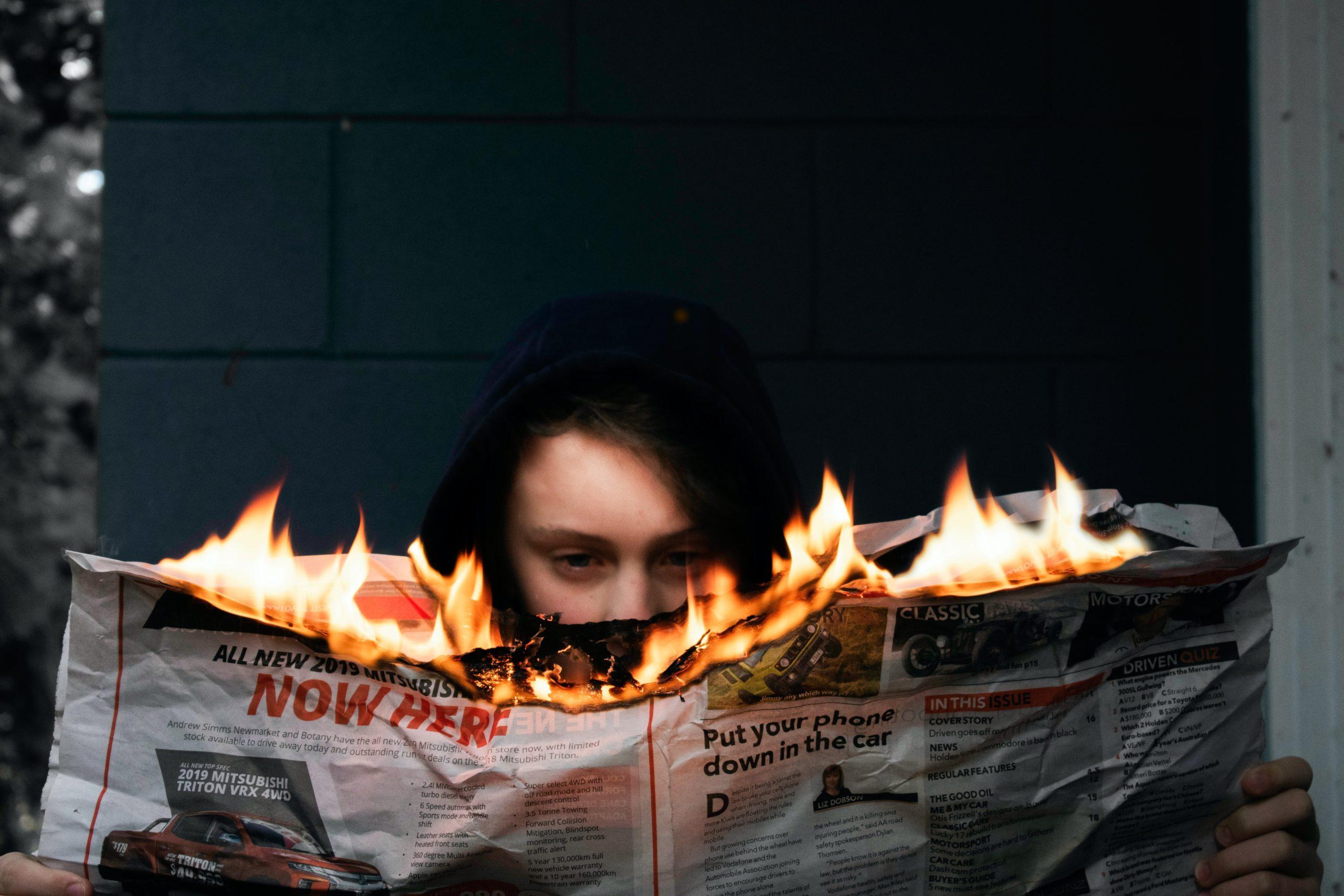 Journal en feu - la diète d'information quand on est hyperémotif